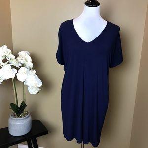 Lilla P Navy Blue Casual Knit Mini Dress Small